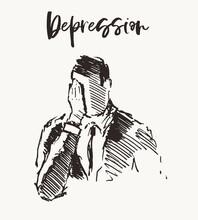 Depressed Man Emptiness Loneli...