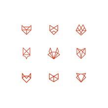 Set Of Geometric Line Animal F...