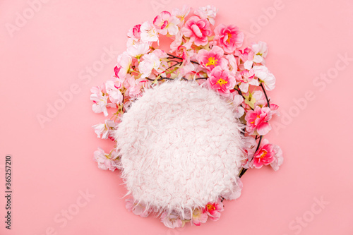 Colorful digital floral background for newborn photography. Tapéta, Fotótapéta