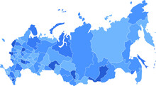 Map Of Russia With Isolated Re...