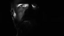 Slit Of Light Across A Man's Eyes Black And White