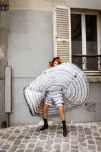 French Cancan Dancers In Montmartre, Paris
