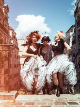 French Cancan Dancers In Montm...