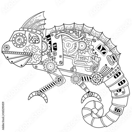 Fotografia Steampunk vector coloring page