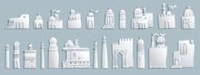 Vector East Cartoon Buildings.