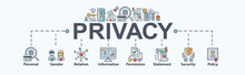 Privacy Banner Web Icon For Pe...
