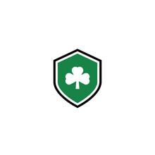 Shamrock And Shield Logo / Ico...