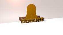 3D Representation Of Walrus Wi...