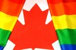 canvas print picture - LGBT Canada flag. Rainbow flag. Symbol of pride and tolerance