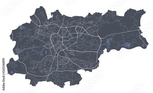 Cuadros en Lienzo Krakow map