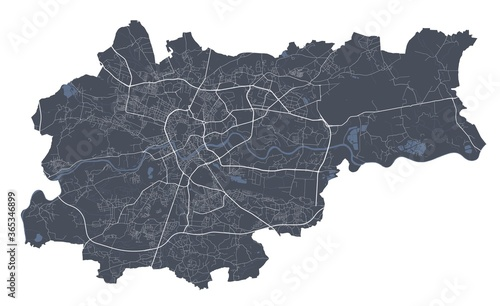 Obraz na plátně Krakow map