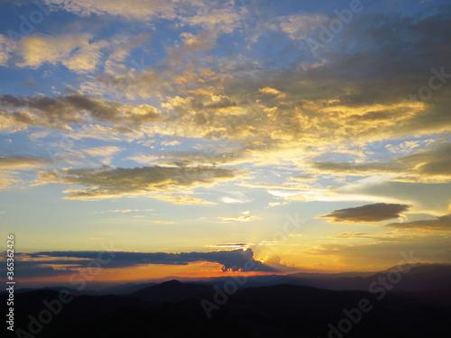 Photo Pôr do sol no Pico agudo em Santo Antônio do Pinhal,interior de São Paulo