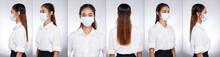 Asian Woman Portrait Rear Side...