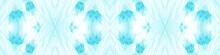 Aztec Rug Icy Blue Banner. Ornamental Azure Bohemian Hand Dye. Winter Pattern. Turquoise Winter Wonderland. Blueish Repeated Silk Batik Brush. Sky Blue Seamless Border. Tie Dye Wash.