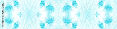 Photo Aztec Rug Icy Blue Banner