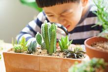 Closeup Of Cute Little Asian B...
