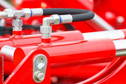 Fototapeta Piston or actuator of hydraulic and pneumatic machine