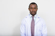 Portrait of handsome bearded African man doctor