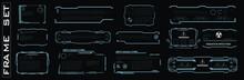 Set Of Screen Elements. HUD, G...