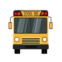 School Bus On The White Backgr...
