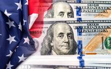 USA American Flag And 100 Doll...