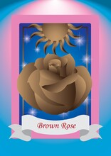 Brown Rose Label