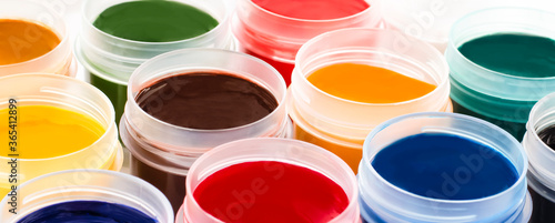 set of multi-colored gouache for painting Fototapeta
