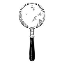 Illustration Of Magnifier In V...