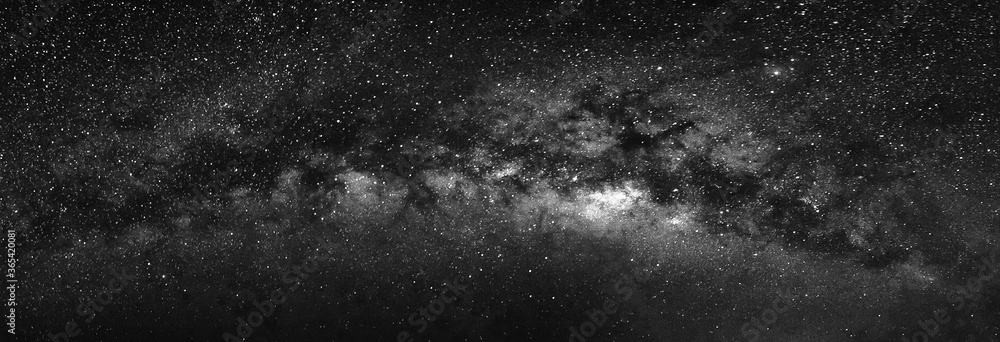 Fototapeta Nature view of milky way galaxy with star in universe space at night.