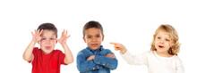 Children Taunting Classmatering