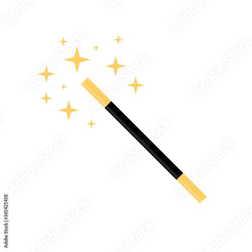 Photo Magic wand flat, magic icon, cheese slice icon, vector illustration isolated on