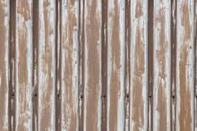 Background Photo Of Brown Metal Sheet Pile Profiles.