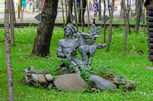 The Little Humpbacked Horse. The Figure Of The Character From The Russian Folk Tale, Installed In The Municipal Park