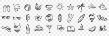 Hand Drawn Summer Symbols Dood...