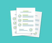 Document Checklist Paper Sheet...