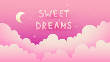 Pink Sweet Dreams Card With Cl...