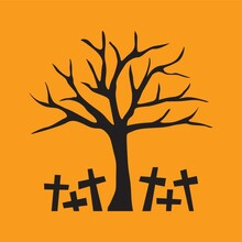 Bare Tree With Graveyard