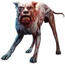 Monstrous Zombie Hound 3D Illu...