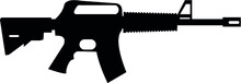 M16 Riffle Machine Gun Automatic Eps Vector File