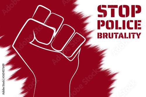 Fotografia, Obraz Stop police brutality concept