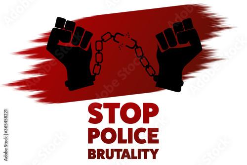 Fototapeta Stop police brutality concept