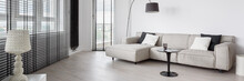 Elegant Designed Living Room, Panorama