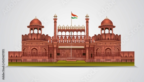 Foto Red Fort in New Dehli, India