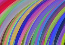 Abstract Multicolor Rainbow Li...
