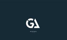 Alphabet Letter Icon Logo GA Or AG