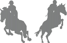 Horse Riders Silhouettes Perf...