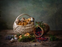 Still Life With Mushrooms And ...