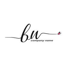 BN Initial Handwriting Logo Lu...