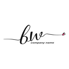 BW Initial Handwriting Logo Lu...