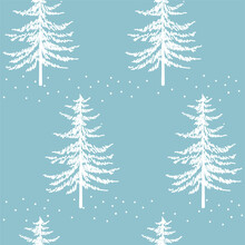 Christmas Tree Seamless Patter...